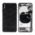 iphone XR Housing with back glass,charging port and power volume flex cable[Black][Aftermarket]